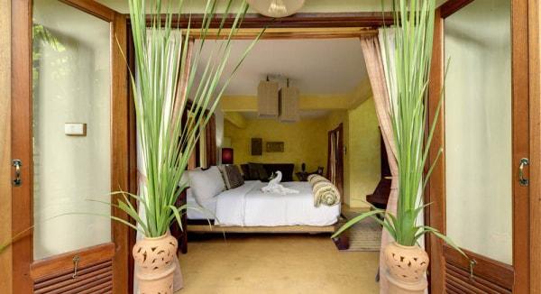bedroom with patio doors