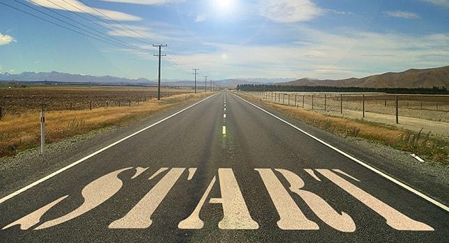 road, start