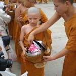 Making Offerings to Monks